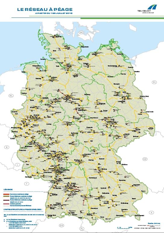 mapa de peajes en Alemania 2015 gestion de peajes en Europa