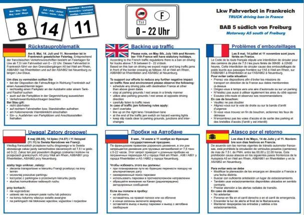 prevision atascos francia 11 noviembre