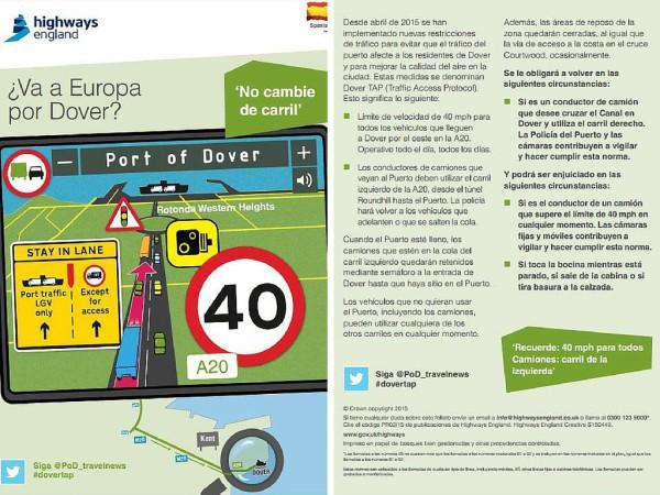 Circulacion en Dover TAP