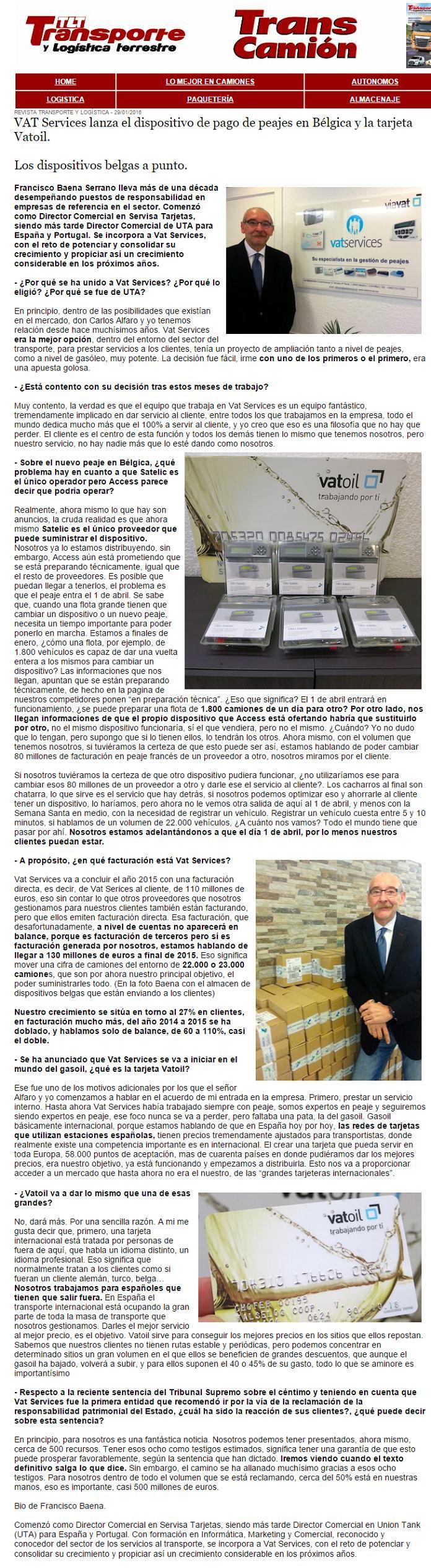 entrevista francisco baena de vatservices en transcamion