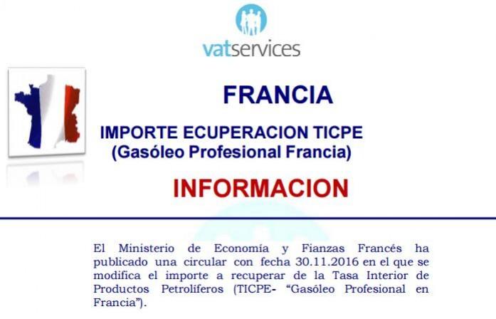recuperacion impuesto sobre gasóleo en Francia