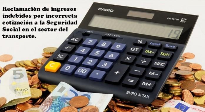 reclamacion ingresos indebidos cotizacion seguridad social transporte