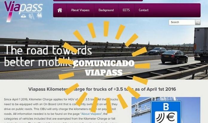 comunicado viapass tasa kilometrica belga