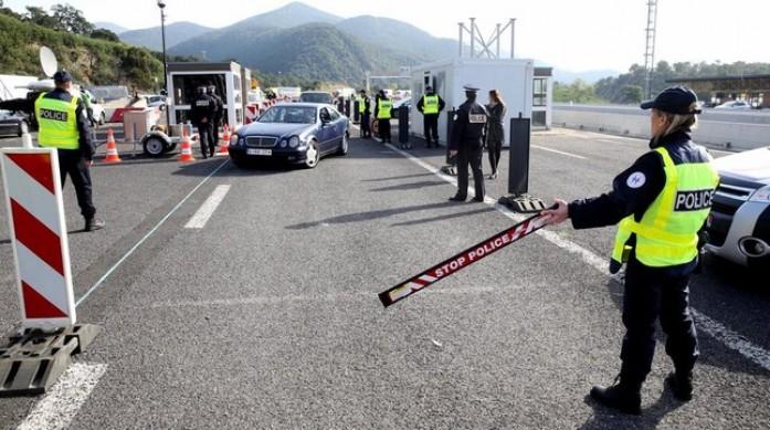 controles en la frontera de Francia