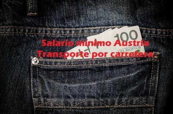 salario minimo austria transporte carretera