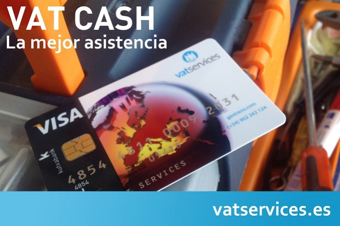 tarjeta de asistencia de Vatservices VAT-CASH