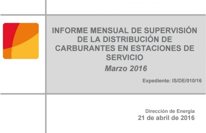 informe carburantes CNMC marzo 2016