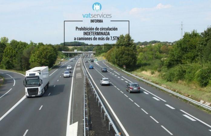 prohibiciones circulacion en francia camiones mas de 7,5 tn VATSERVICES